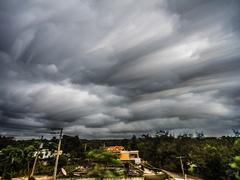 Time lapse startrail hurricane matthew Startrail Stock Footage
