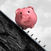 Financial Debt Pressure Stock Illustration