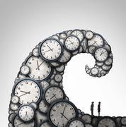 Overwhelmed Schedule Stock Illustration