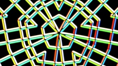 Chromatic Weird Grid Kaleidoscope Psychedelic Abstract Motion Background Loop 2 Stock Footage
