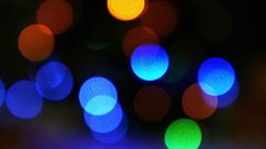 Abstract background of Christmas light bokeh. New Year Stock Footage