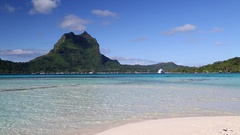 Bora Bora, Society Islands, French Polynesia Stock Footage