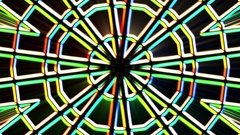 Chromatic Alien Grid Kaleidoscope Psychedelic Abstract Motion Background Loop 4 Stock Footage