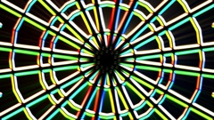 Chromatic Alien Grid Kaleidoscope Psychedelic Abstract Motion Background Loop 5 Stock Footage