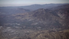 Aerial view over Northern California and Santa Cruz mountains Stock Footage