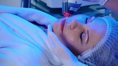 The procedure of wrinkles removal in a beauty clinic Stock Footage