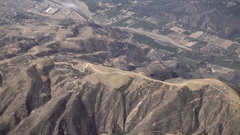 Flying over Santa Cruz mountains in Northern California - aerial moving shot Stock Footage