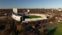 Rising aerial view of Edgbaston Cricket Ground, Birmingham. Stock Footage