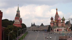 Red Square on a summer day Stock Footage
