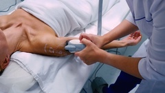Woman having vacuum massage in the beauty clinic Stock Footage