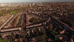 Aerial view of Edgbaston, Birmingham. Stock Footage