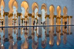 Sheikh Zayed White Mosque in Abu Dhabi Stock Photos