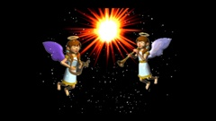 Angels in God's presence Stock Footage