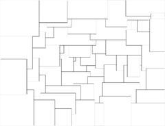 White space geometries overlap Stock Illustration