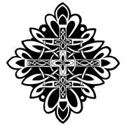 Pattern with a cross in the Celtic style Stock Illustration