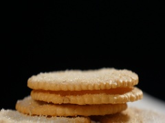 Biscuits rotating Stock Footage
