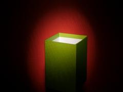 Empty green cube box rotating Stock Footage