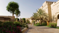 Hotel in the desert Stock Footage