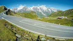 Alpine road timelapse, Austria Stock Footage
