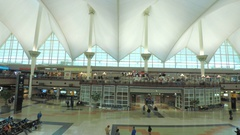 Time lapse. Interior of Denver International airport. Stock Footage