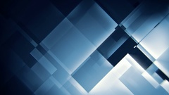 Glowing blue squares abstract motion background seamless loop Stock Footage