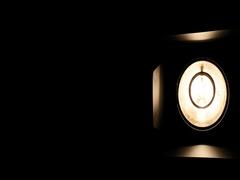 Moving shot of studio barn door light Stock Footage