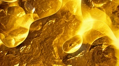 Crumpled gold surface abstract motion background seamless loop Stock Footage
