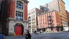New York City Firehouse Stock Footage