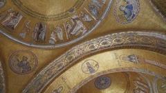 Pan St Marks Mosaic Venice Italy Stock Footage
