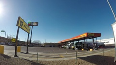 Busy Truck Stop Time Lapse Stock Footage