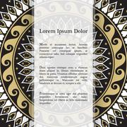 Vector banners with mandala Stock Illustration