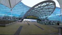 Outdoor plaza at Denver International Airport. Stock Footage