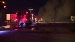 CALIFORNIA WILD FIRES SMOKE FLAMES FIREFIGHTER CREWS 1 HD 1920X1080 Stock Footage