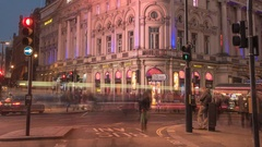 Black friday Shopping in central London Stock Footage