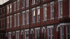 View of Typical English flats Stock Footage