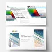 Business templates in HD format for presentation slides. Easy editable layouts Stock Illustration