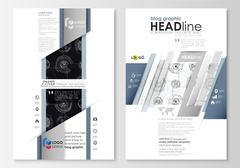 Blog graphic business templates. Page website template, flat layout. High tech Stock Illustration