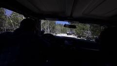 Off roading inside jeep cabin 4k Stock Footage