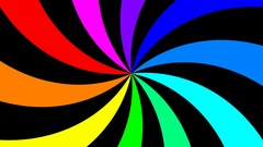 Rainbow spectral swirl rotating slowly clockwise, seamless loop Stock Footage