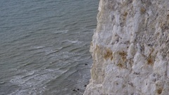 White Cliffs of Dover, detail, chalk, coccoliths, calcium carbonate Stock Footage