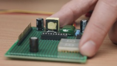 Install chip in holder Stock Footage