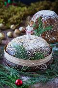 Christmas Table With Italian Sweets Stock Photos