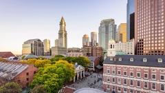 Boston, Massachusetts Cityscape Time Lapse Stock Footage
