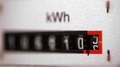 Electricity meter close up view Stock Footage