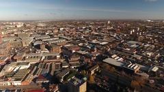 Urban sprawl to the south of Birmingham. Stock Footage