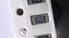 SMD resistor in strip macro Stock Footage