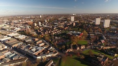 Aerial view of High Gate, Birmingham. Stock Footage