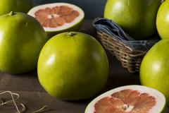 Raw Green Organic Citrus Pummelo Fruit Stock Photos