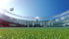 Slow shift camera to soccer ball in grass. Slow motion 4k Stock Footage