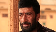 Portrait muslim man in Srinagar, Kashmir, India . Close up Stock Footage